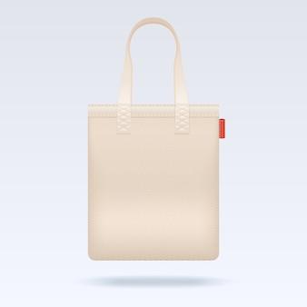 Sjabloon voor lege witte tote boodschappentas