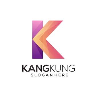 Sjabloon voor letter k-logo
