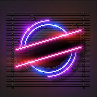 Sjabloon voor licht neon spandoek