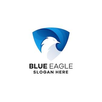 Sjabloon voor logo met adelaar-verloop