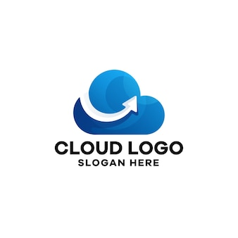 Sjabloon voor logo met wolkverloop