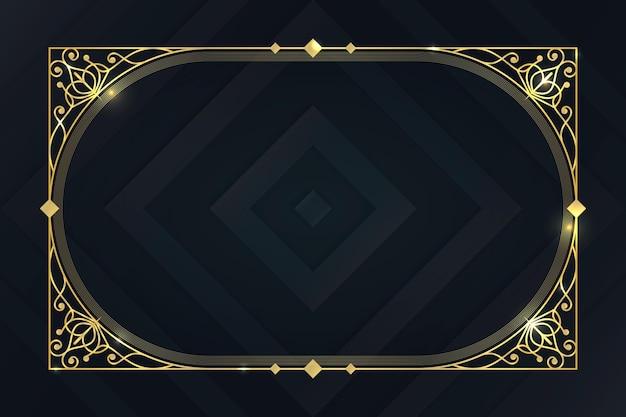 Sjabloon voor luxe frame met kleurovergang