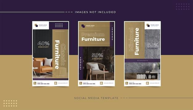 Sjabloon voor luxe meubels instagram-verhalen