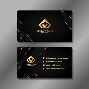 Sjabloon voor luxe visitekaartjes met gouden vormen