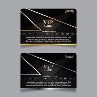 Sjabloon voor luxe zakelijke identiteitskaarten