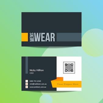 Sjabloon voor mannen dragen moderne visitekaartjes