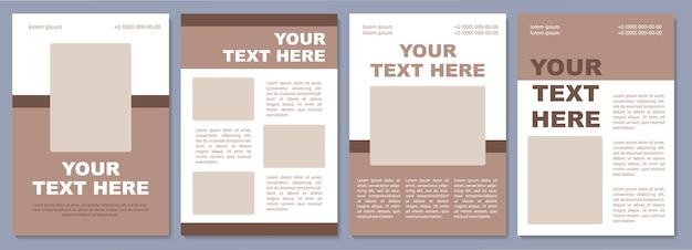Sjabloon voor marketingbrochures. trek potentiële klanten aan. flyer, boekje, folder afdrukken, omslagontwerp met kopieerruimte. jouw tekst hier. vectorlay-outs voor tijdschriften, jaarverslagen, reclameposters