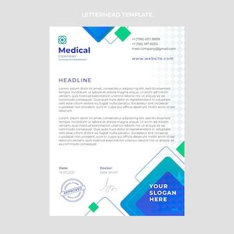 Sjabloon voor medisch briefhoofd met kleurovergang