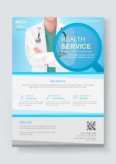 Sjabloon voor medische folder
