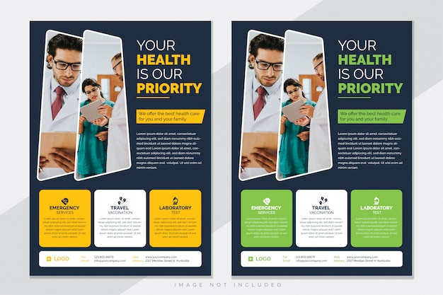 Sjabloon voor medische gezondheidszorg folder