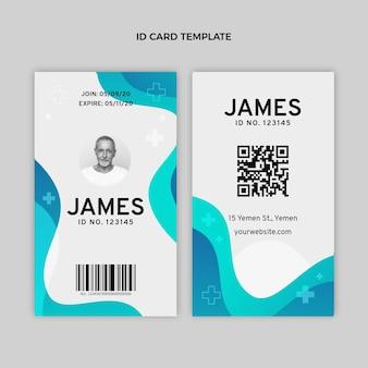 Sjabloon voor medische identiteitskaart met verloop