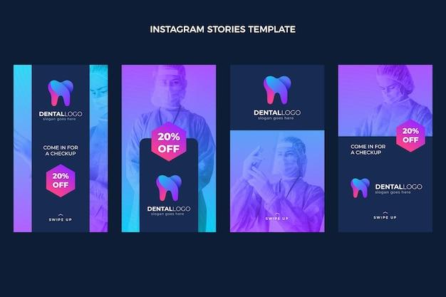 Sjabloon voor medische instagramverhalen met verloop grad