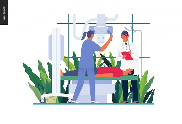 Sjabloon voor medische tests - röntgentest