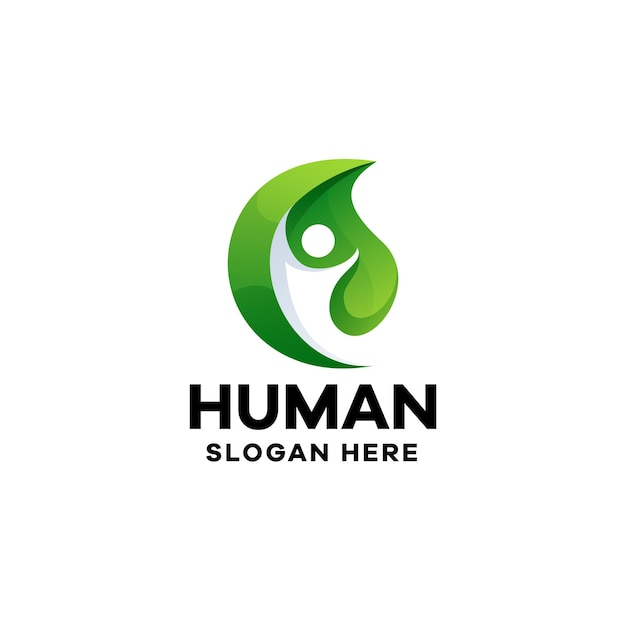 Sjabloon voor menselijk verlooplogo