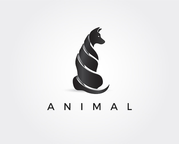 Sjabloon voor minimaal dierenlogo