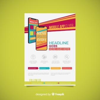 Sjabloon voor mobiele app-flyer