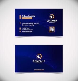Sjabloon voor modern blauw geometrische visitekaartjes