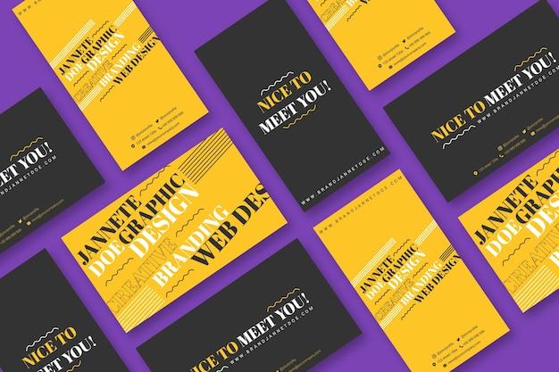 Sjabloon voor modern grafisch ontwerper visitekaartjes