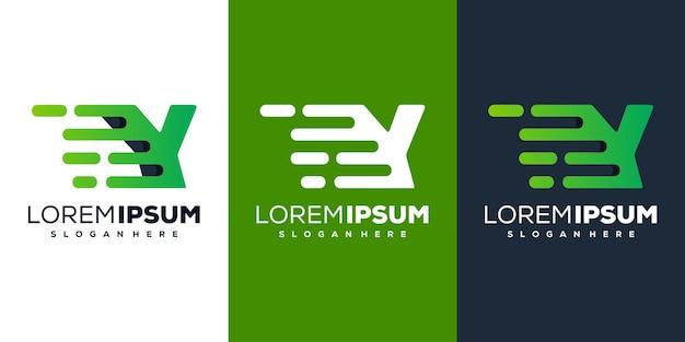Sjabloon voor modern letter y tech-logo