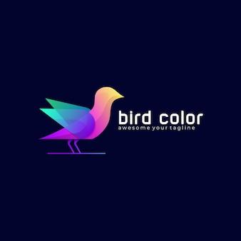 Sjabloon voor modern logo met kleurverloop voor vogels