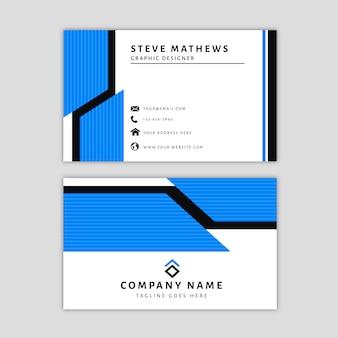 Sjabloon voor modern visitekaartjes met abstract ontwerp