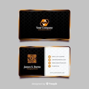 Sjabloon voor modern visitekaartjes met elegant ontwerp