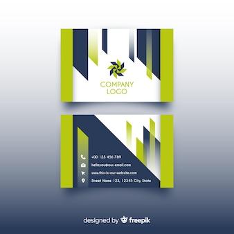 Sjabloon voor modern visitekaartjes met elegante stijl