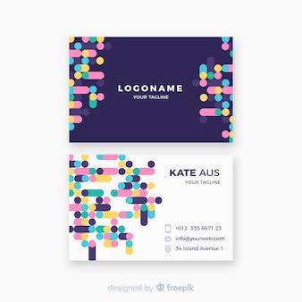 Sjabloon voor modern visitekaartjes met geometrisch ontwerp
