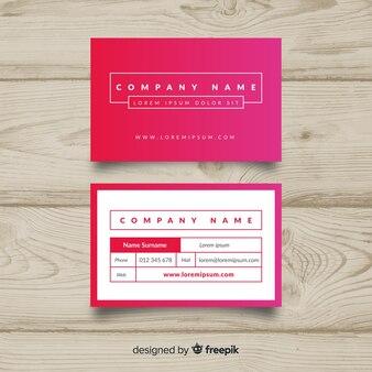 Sjabloon voor modern visitekaartjes met kleurrijk ontwerp