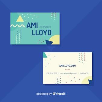 Sjabloon voor modern visitekaartjes met kleurrijke stijl