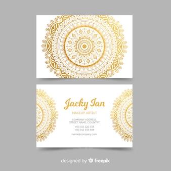 Sjabloon voor modern visitekaartjes met mandala