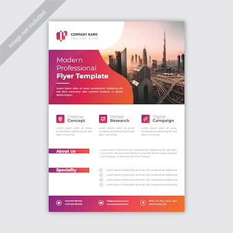 Sjabloon voor modern zakelijk en zakelijk flyer