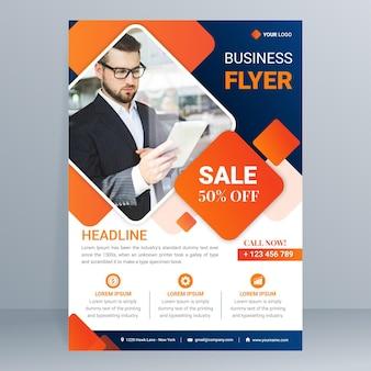 Sjabloon voor modern zakelijk flyer
