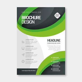 Sjabloon voor modern zakelijke brochure