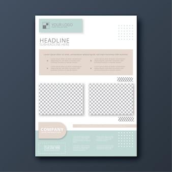 Sjabloon voor modern zakelijke folder