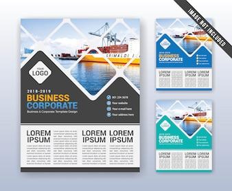 Sjabloon voor modern zakelijke jaarverslag