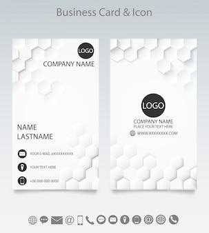 Sjabloon voor moderne creatieve visitekaartjes en pictogram.