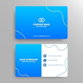 Sjabloon voor moderne en professionele zakelijke visitekaartjes