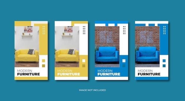 Sjabloon voor moderne meubels instagramverhalen