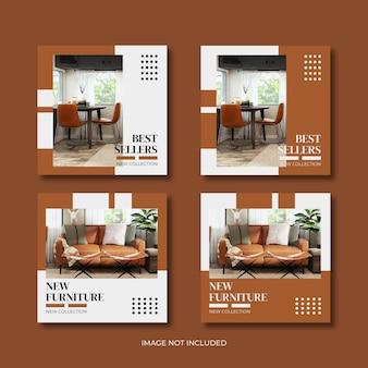 Sjabloon voor moderne meubels voor sociale media
