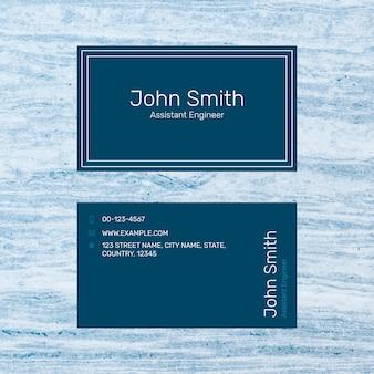 Sjabloon voor moderne visitekaartjes in marineblauw
