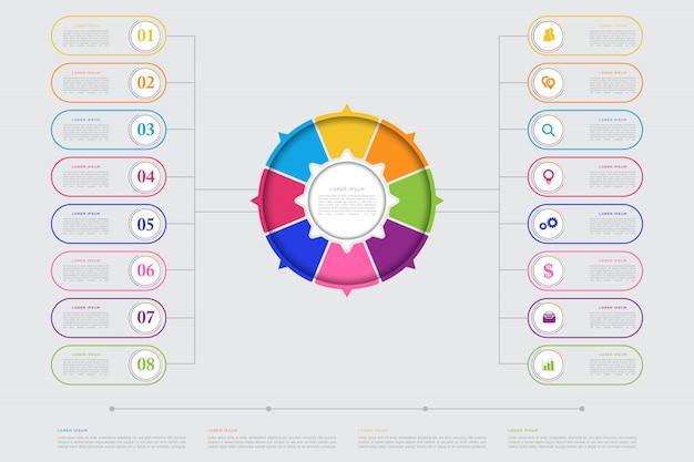 Sjabloon voor moderne zakelijke infographic elementen