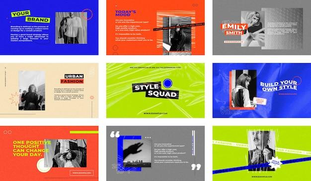 Sjabloon voor moderne zakelijke presentatie
