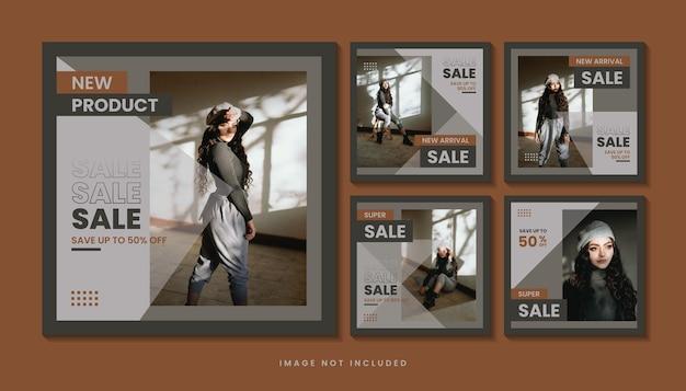 Sjabloon voor modeverkoop sociale media berichten