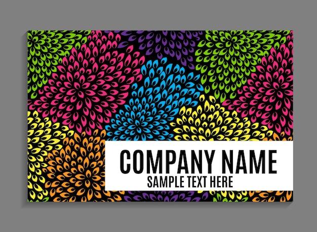 Sjabloon voor mooi bedrijf visitekaartjes. vectorillustratie