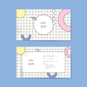 Sjabloon voor neo memphis-visitekaartjes