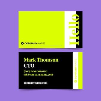 Sjabloon voor neon visitekaartjes