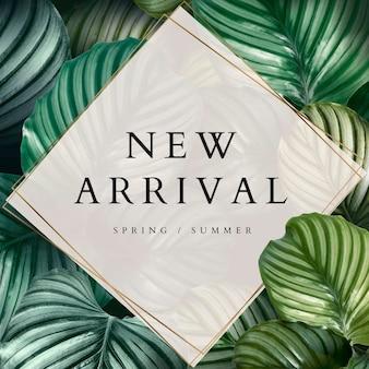 Sjabloon voor nieuwe aankomst lente en zomer