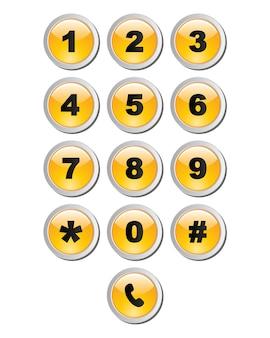 Sjabloon voor numeriek toetsenbord voor gebruikersinterface.