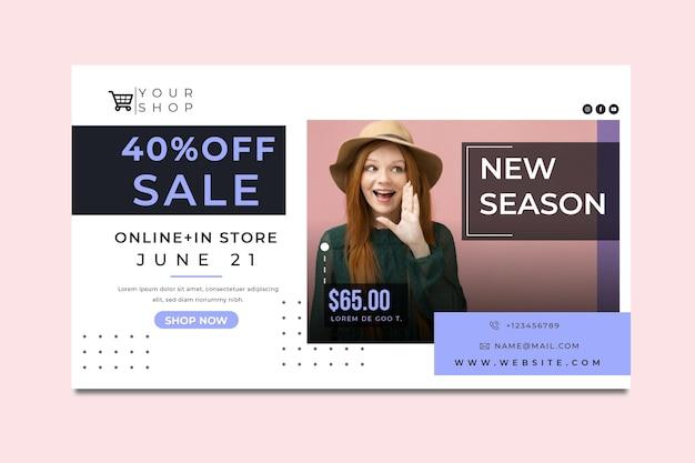 Sjabloon voor online winkelen en verkoop voor spandoek